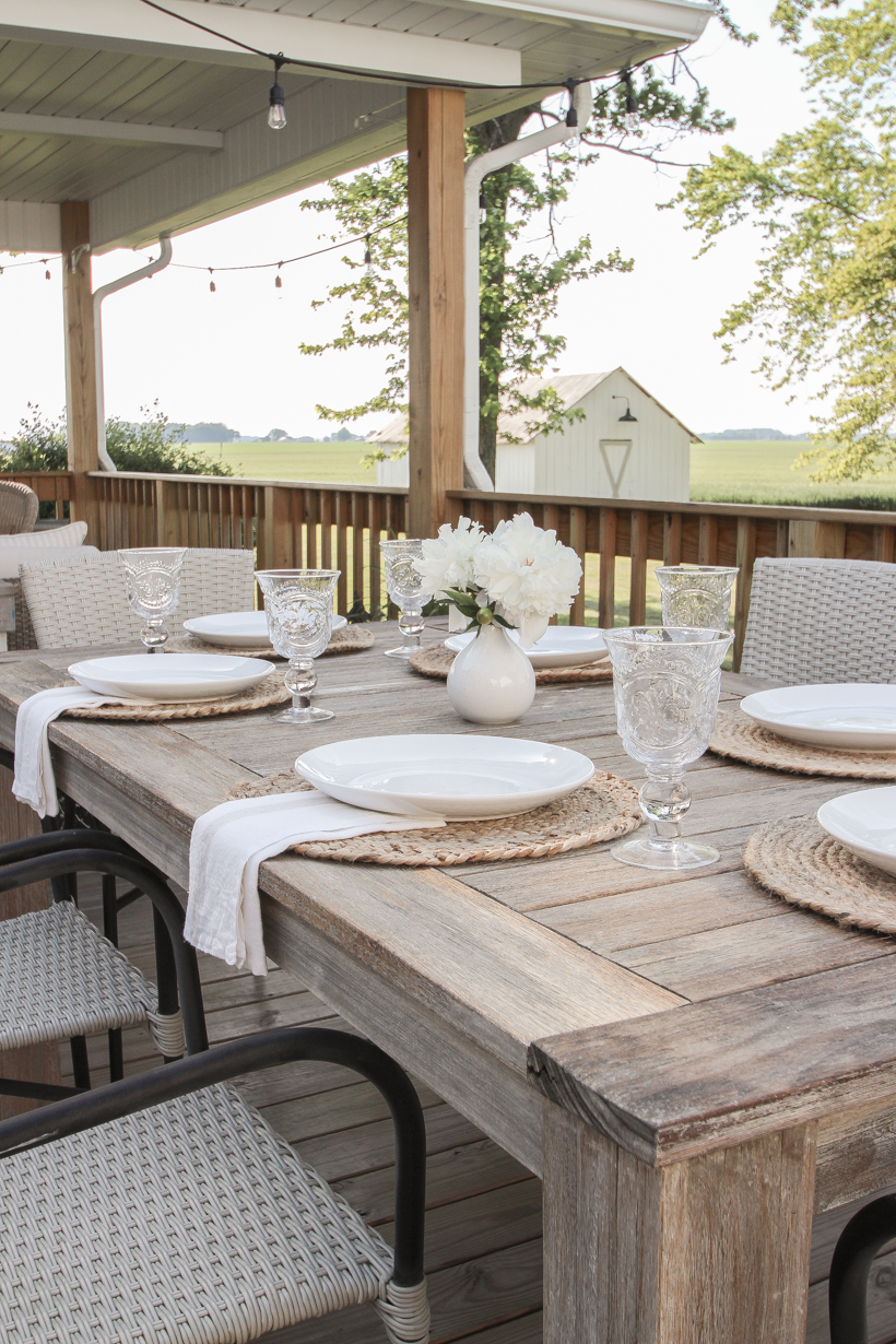 Learn how to restore and protect outdoor wood furniture from home blogger and interior decorator Liz Fourez