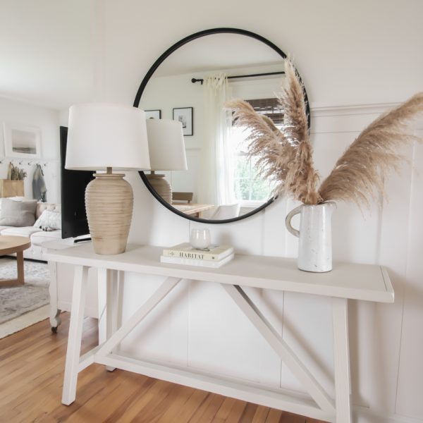Home blogger and interior decorator Liz Fourez shares a genius tip for making a room instantly feel brighter... no electricity or painting required!